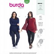 6391 Burda Pattern: Misses' Plus Size Stretch T-Shirt